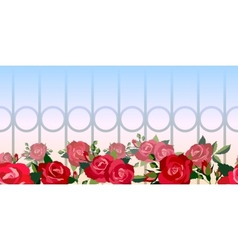 Horizontal seamless pattern of red roses vector image