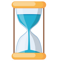 hourglass on white background vector image