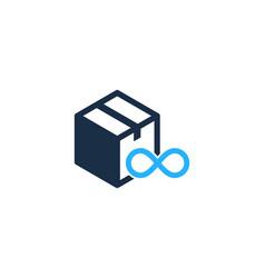 infinity box logo icon design vector image