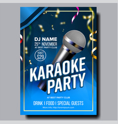 Karaoke poster sing song karaoke dance vector