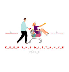 keep distance poster vector image