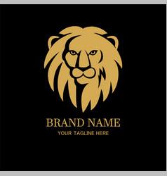 Lion head logo design template vector