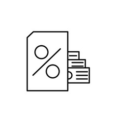 loan icon vector image