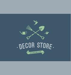 logo hand made decor store vector image