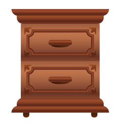 luxury nightstand icon cartoon style vector image