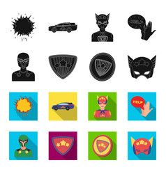 Man mask cloak and other web icon in blackflet vector