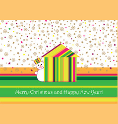 Merry christmas greeting card design winter vector