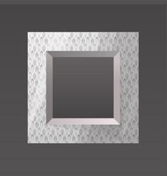 metal printed frame blank vector image