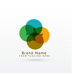 Modern chat logo concept design vector