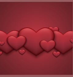 modern red valentines day background heart vector image