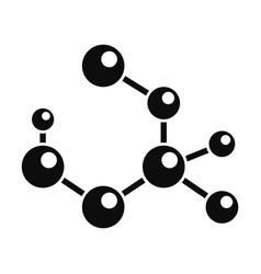 molecule formula icon simple style vector image