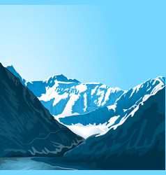 Mountain altai landscape vector