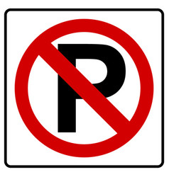 parking symbol and no parking sign vector image
