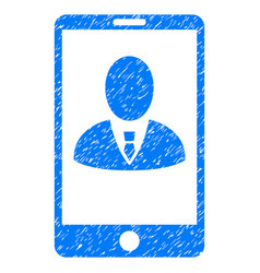 Phone customer profile grunge icon vector
