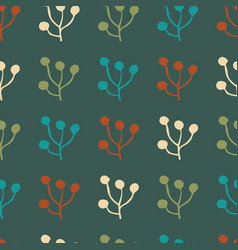 plant foliage repeat seamless pattern design vector image