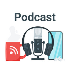 Podcast color vector