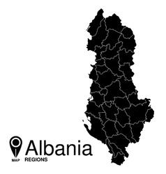 Regions map of Albania Albania vector image