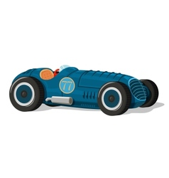 Retro racing car icon vector