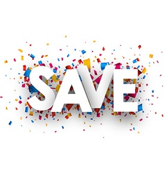 Save sign vector image