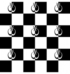 Seamless pattern with checkered design vector