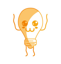 Silhouette kawaii cute tender bulb energy vector