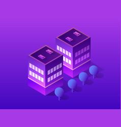 Smart city of ultraviolet vector