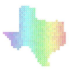 Spectral cirle dot texas map vector