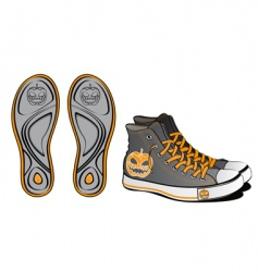 Sports shoes Halloween symbol vector