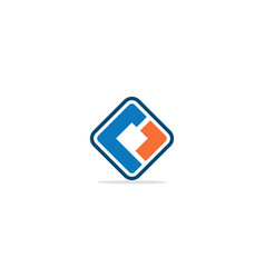 square shape colored initial logo vector image