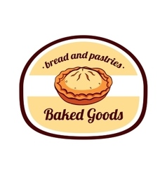 Sticker Baked Goods vector