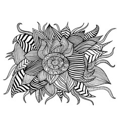 Surreal fantastic abstract flower with many vector