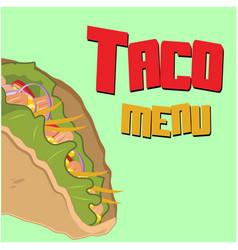 Taco menu taco background image vector
