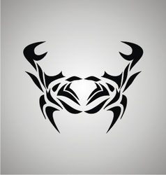 Tribal Crab vector image