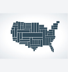 United states map made by rectangles vector