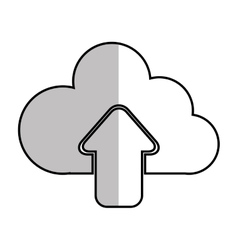 upload cloud hosting vector image