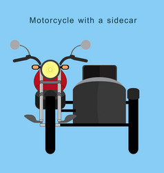 vintage motorcycle with a sidecar on background vector image