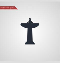 washbasin icon simple vector image