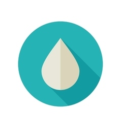 Water Rain Drop flat icon Meteorology Weather vector image