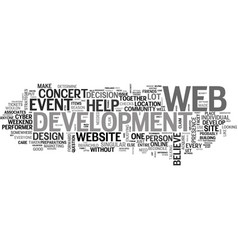 web development a little help from my friends vector image