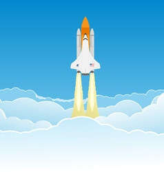 Wide sky and shuttle vector