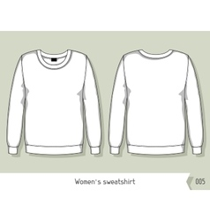 Women sweatshirt Template for design easily vector image