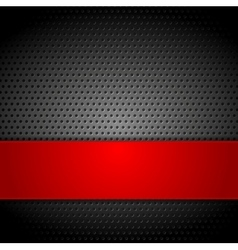 Abstract metal perforated background vector image vector image