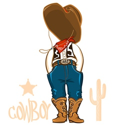 cowboy clothes isolated on white vector image vector image