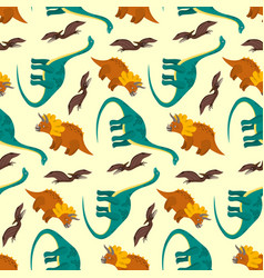 cute cartoon dinosaurs pattern for kids textile vector image vector image