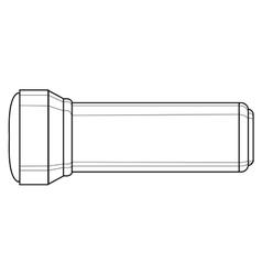 Flashlight light equipment vector