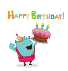 Happy Birthday Monster vector image