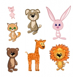 toy animals vector image