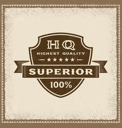 vintage highest quality superior label vector image