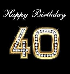 40th happy birthday vector image vector image