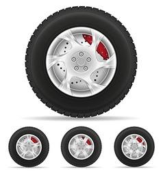 Car wheel 06 vector